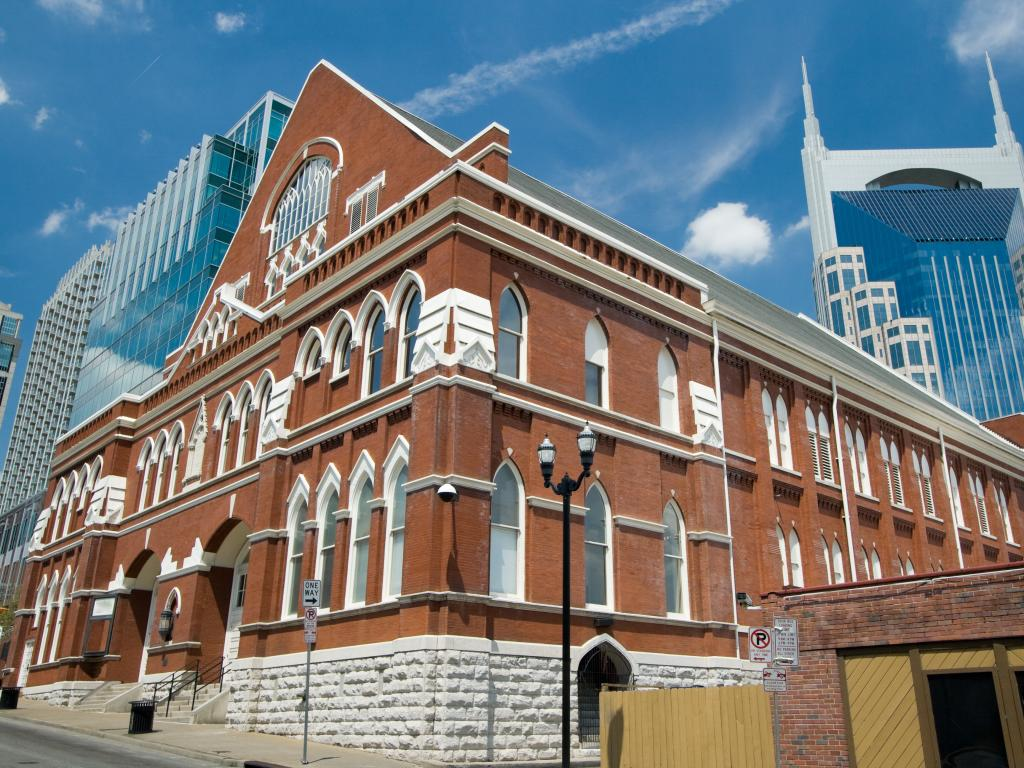 The Ryman Auditorium building in Nashville, Tennessee