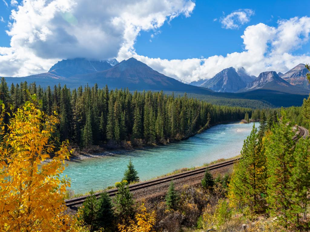 A scenic view of the Bow River