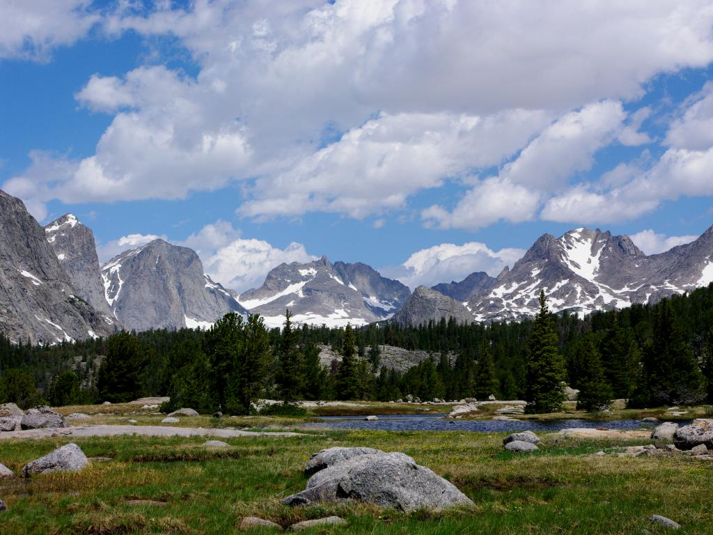 Wind River Mountain Range in Wyoming's Wind River Reservation