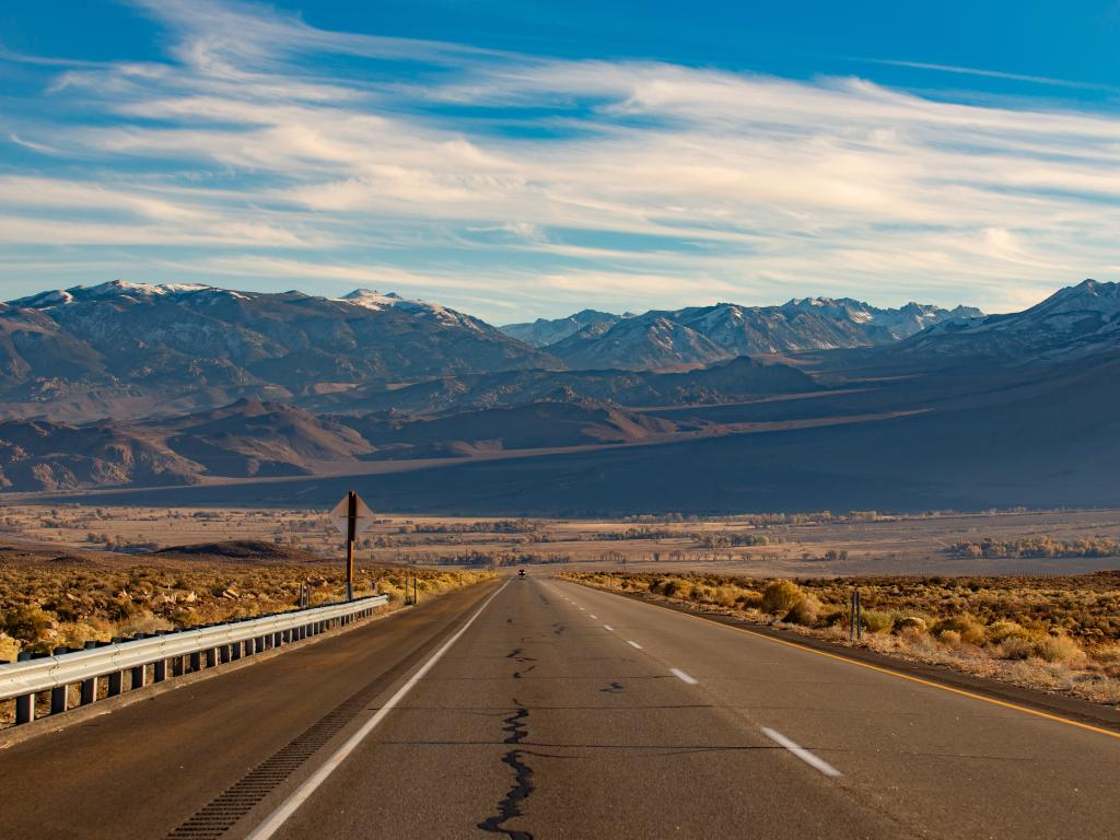 US-395 route is the fastest way to get from Los Angeles to Lake Tahoe with amazing scenery en route.