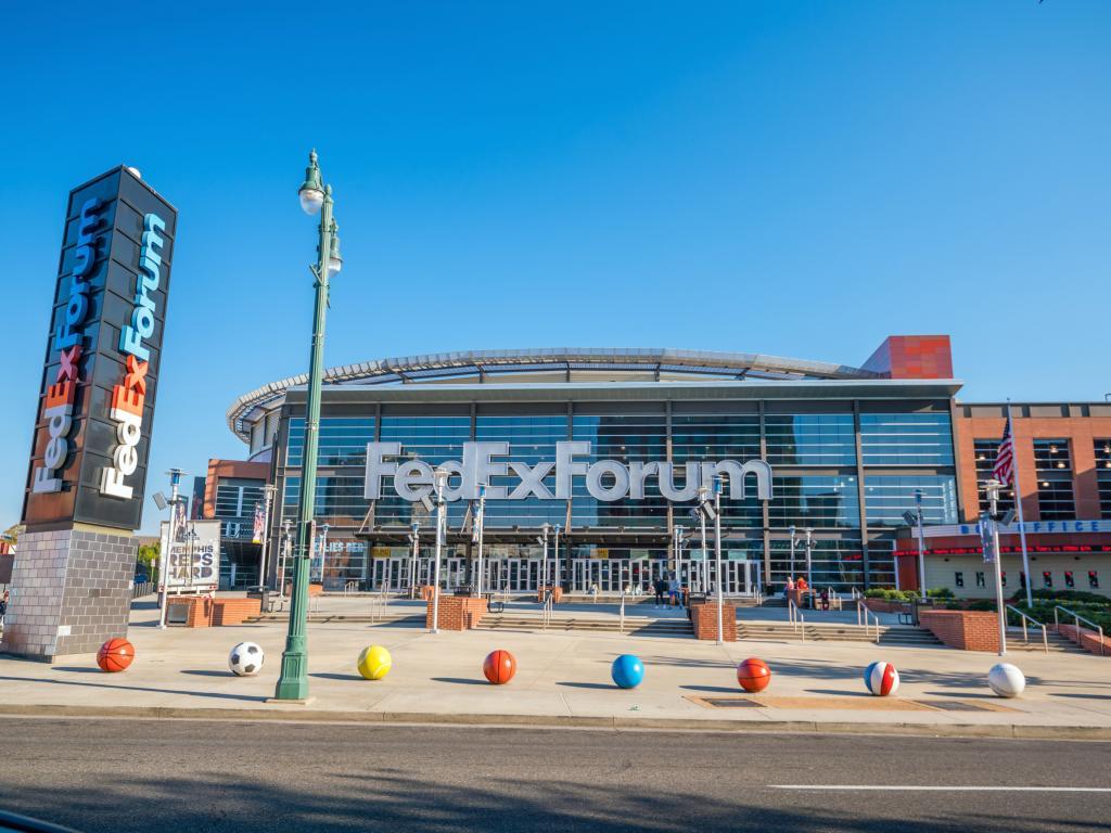 Memphis Grizzlies NBA FedExForum arena in Memphis Tennessee