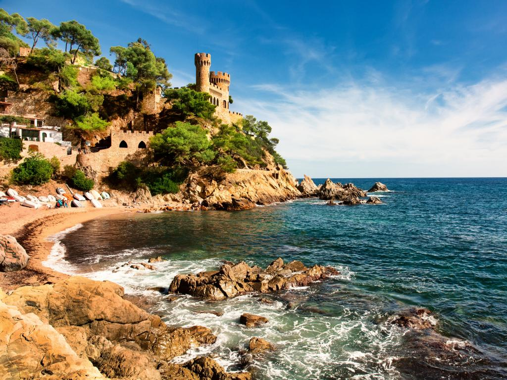 Cove near Lloret de Mar - a perfect beach day trip from Barcelona