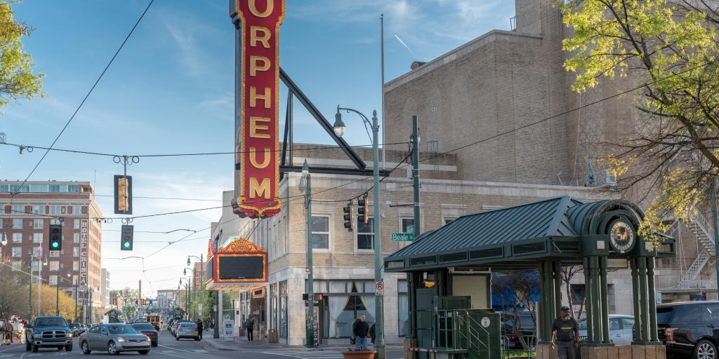 Orpheum Theatre in downtown Memphis, Tennessee
