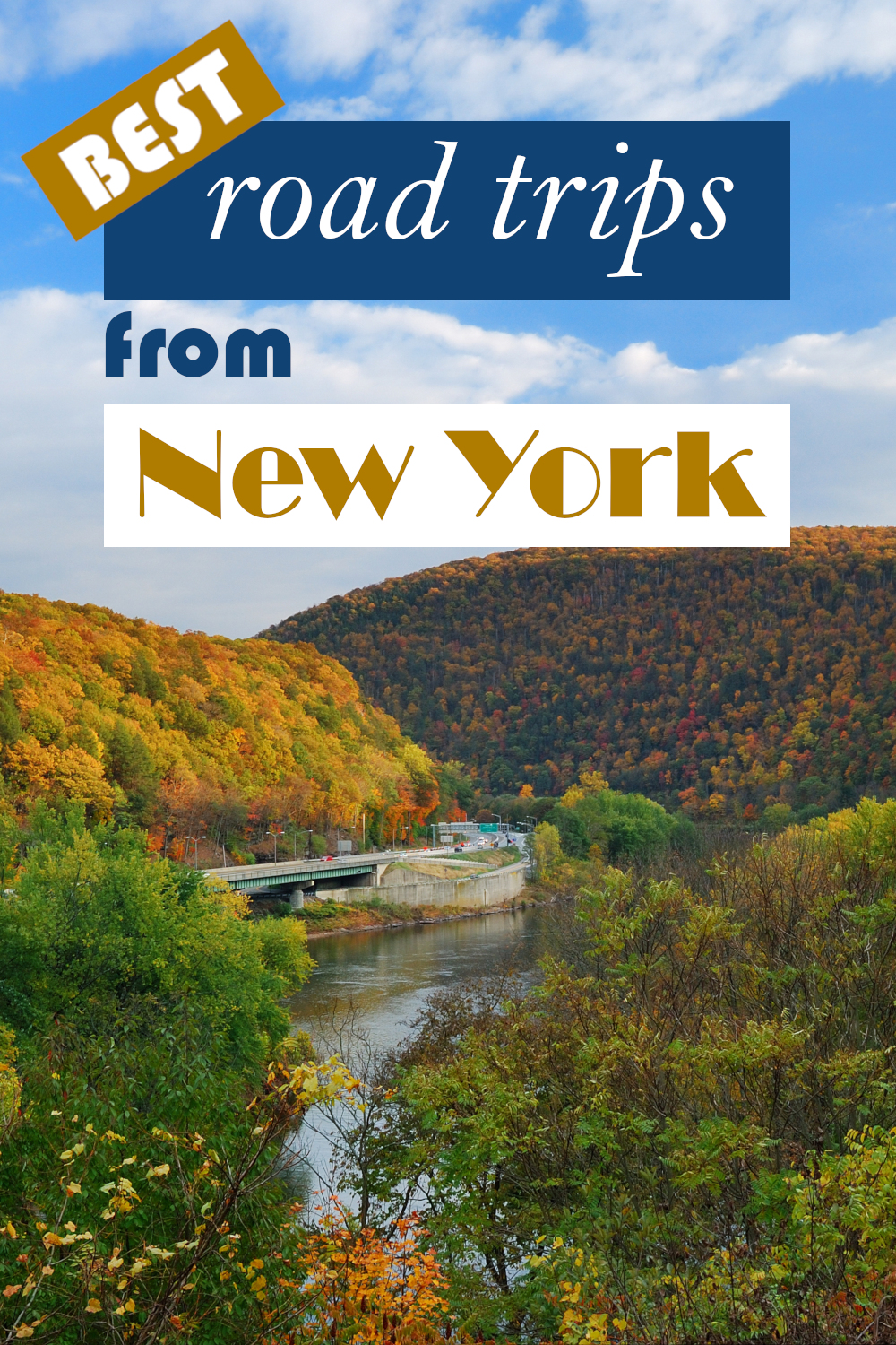 Best road trips from New York - from short day drives to week-long adventures from New York State to Massachusetts, Virginia and even Canada