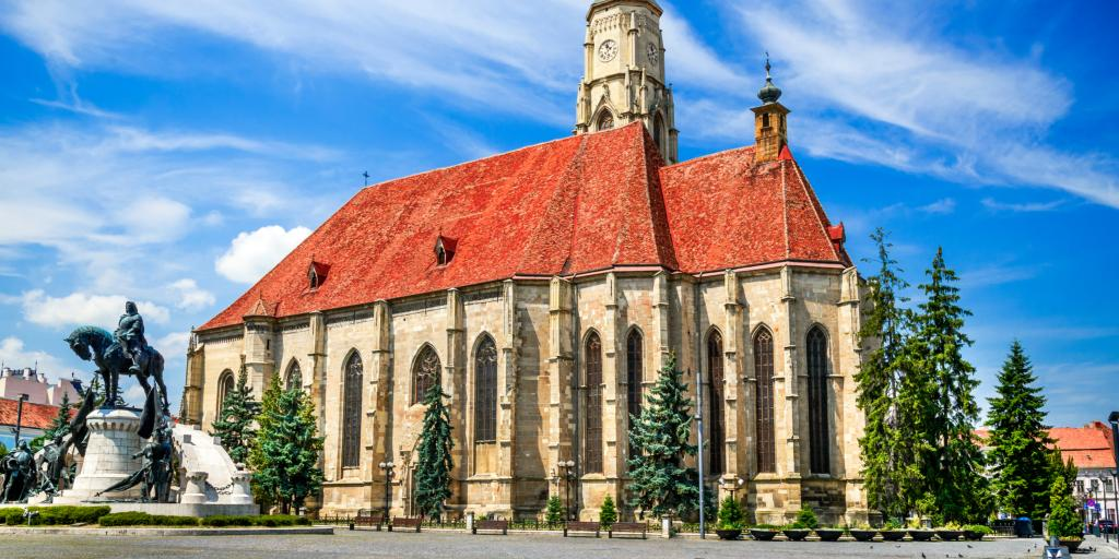 St Michael's Church in Cluj-Napoca on a sunny day