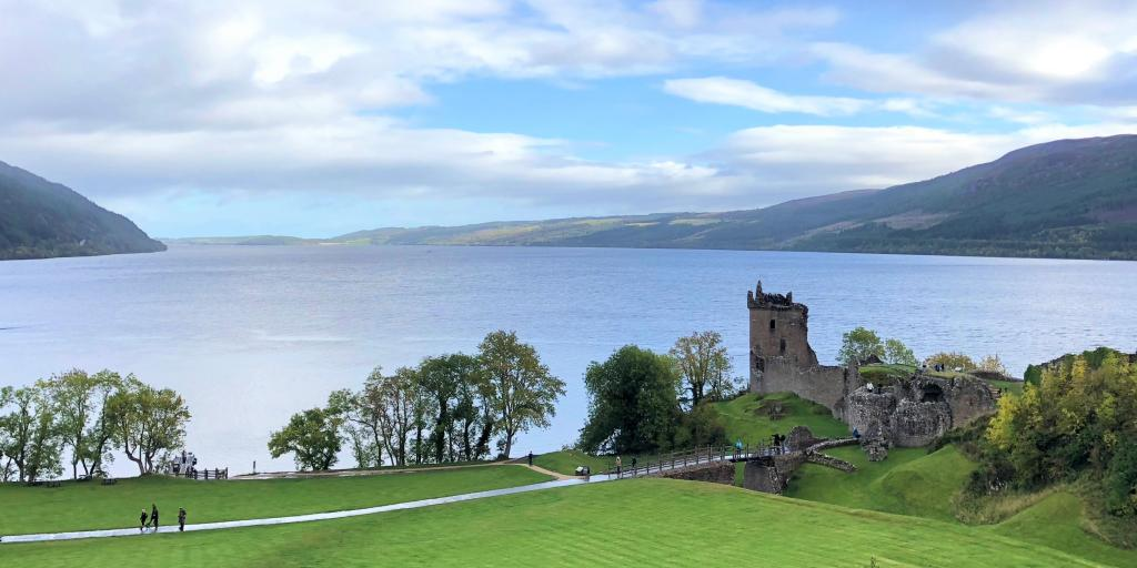 Loch Ness  with the ruins of Castle Urquhart in the foreground