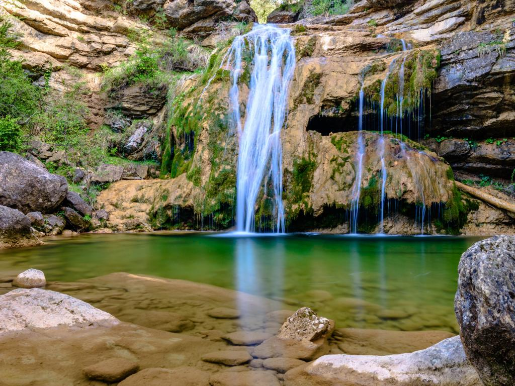 The Campdevanol waterfalls are a magical day trip from Barcelona