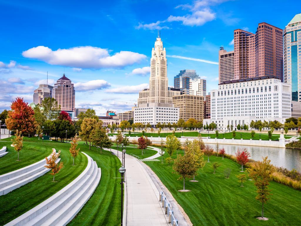 Columbus, Ohio, USA skyline on the Scioto River