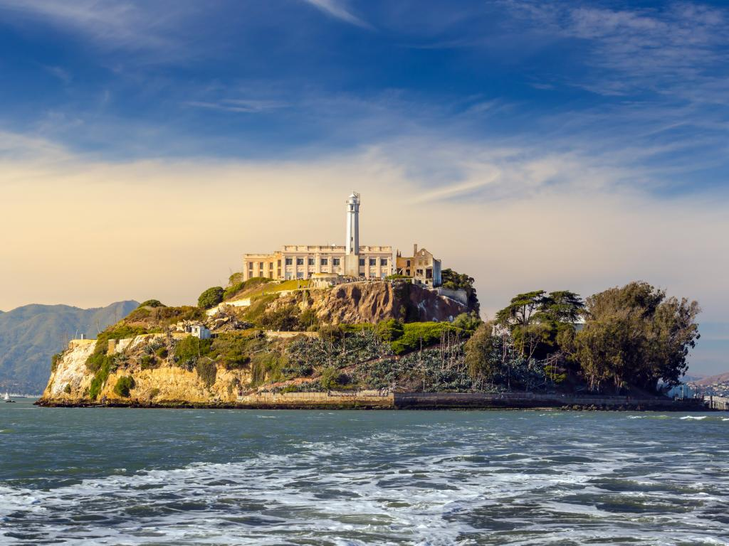 Alcatraz Island prison and lighthouse in San Francisco