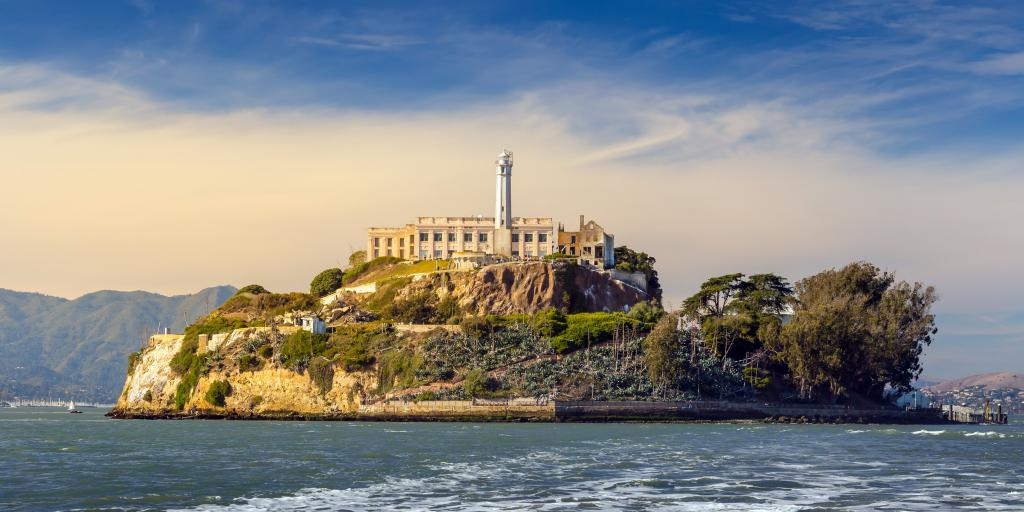 Alcatraz Island prison and lighthouse in San Francisco