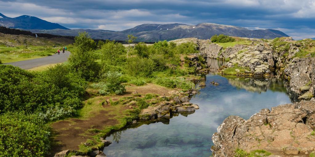 The rugged landscape of Thingvellir, Iceland