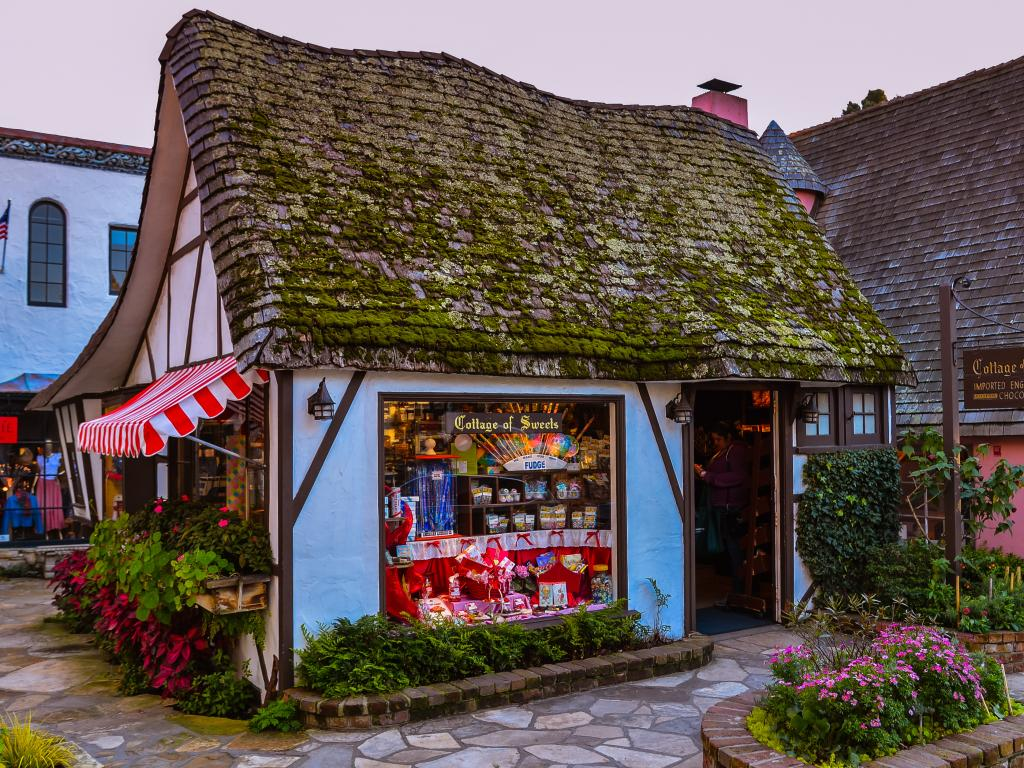 The Cottage of Sweets imports British sweets in Carmel-by-the-Sea, California