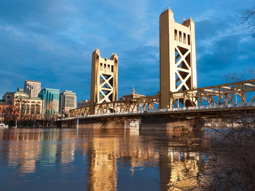 Old Sacramento Bridge in Sacramento, California