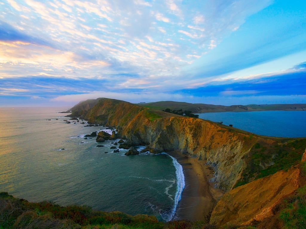Coastline of the Point Reyes National Seashore in California