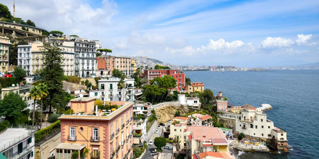 A view over the houses along the Naples coastline