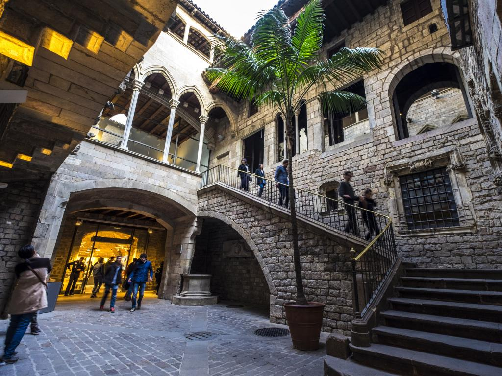 Entrance to Museu Picasso Museum in the Born Quarter in Barcelona