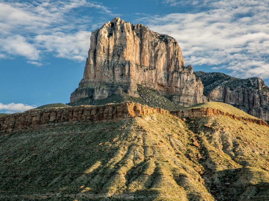 El Capitan in Guadalupe Mountains National Park in Texas at sunrise