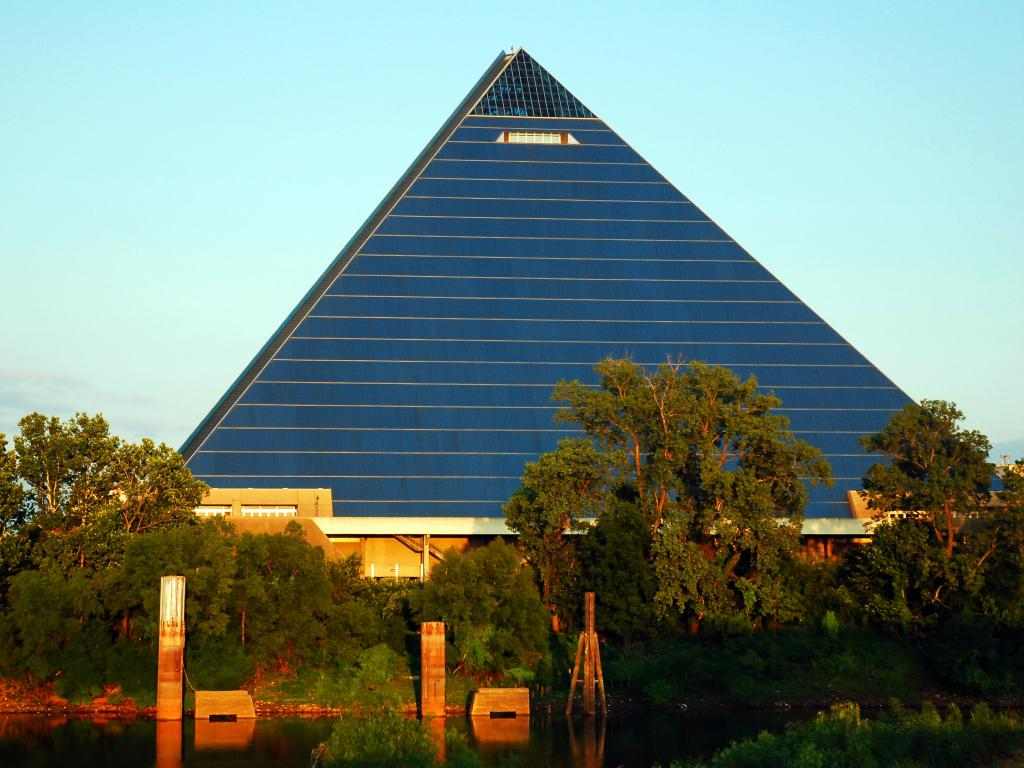 The Memphis Pyramid housing the Bass Pro Shop, Tennessee