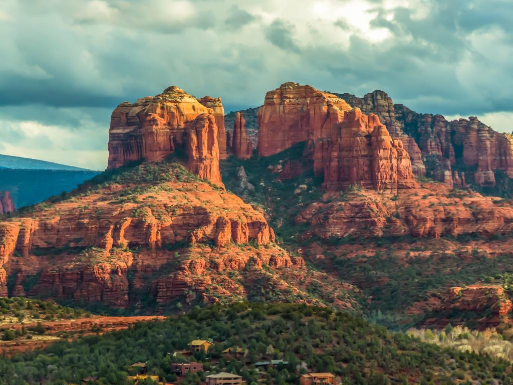 Cathedral Rock and other red rocks of the Red Rock State Park near Sedona, Arizona.