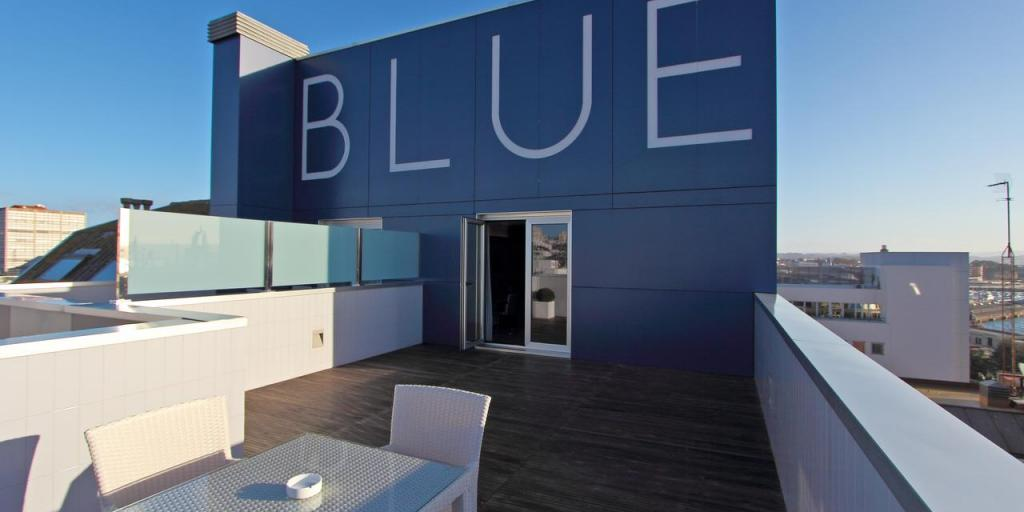 Roof terrace of the Hotel Blue La Coruña