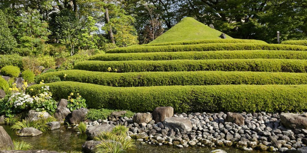 Mound representing Mount Fuiji at Momijiyama Japanese Garden, Shizuoka