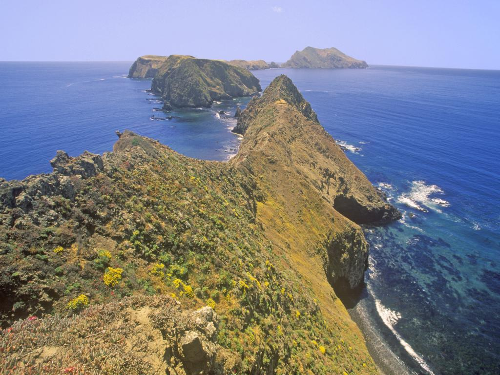 View opening up from Inspiration Point on East Anacapa Island in the Channel Islands National Park, California