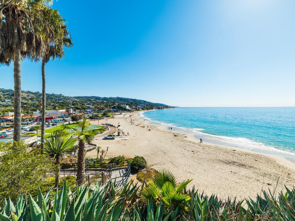 Laguna Beach stretching into the distance in Orange County, California