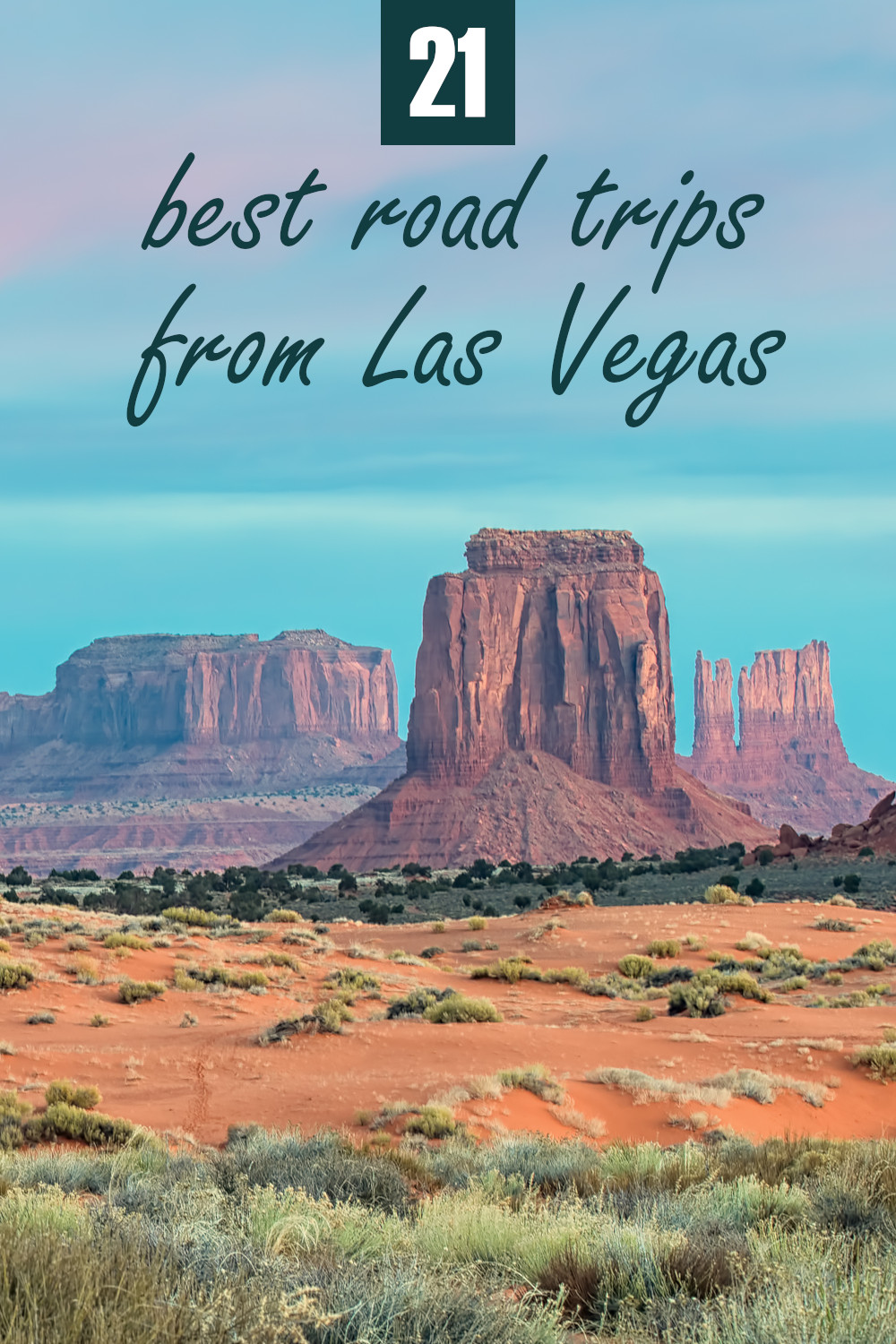 21 best road trips from Las Vegas from short drives into the desert to longer road trips to the Sierra Nevada and the Californian coast.