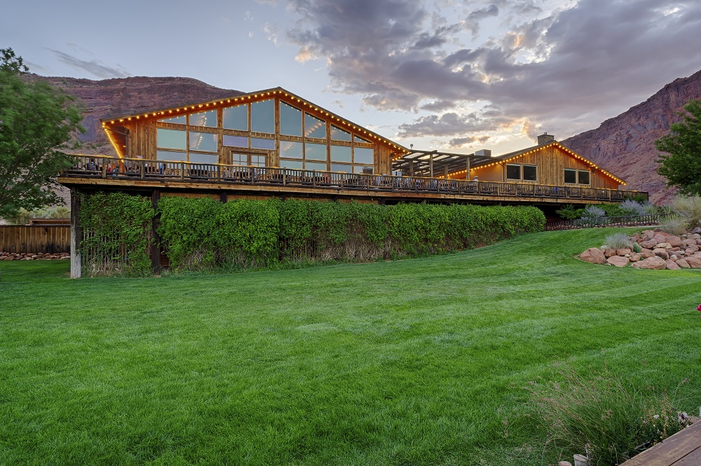 Red Cliffs Lodge is located on the banks of the Colorado River and is a perfect place to stop on a road trip from Denver to Las Vegas.