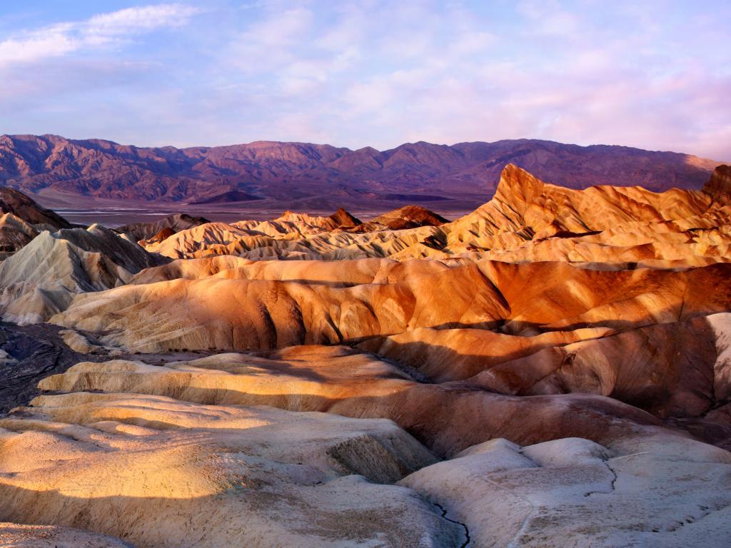 Sunrise over Zabriskie Point, Death Valley National Park, California