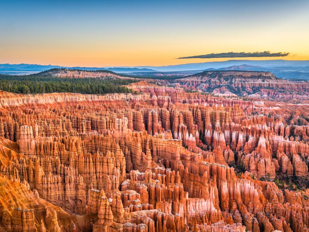 The unbelievable rock formations in Bryce Canyon National Park, Utah.