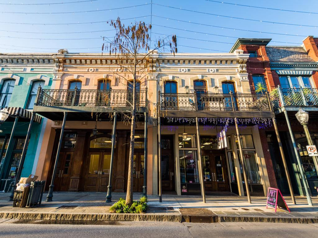 The Southern charm of the Historic Downtown in Mobile, Alabama