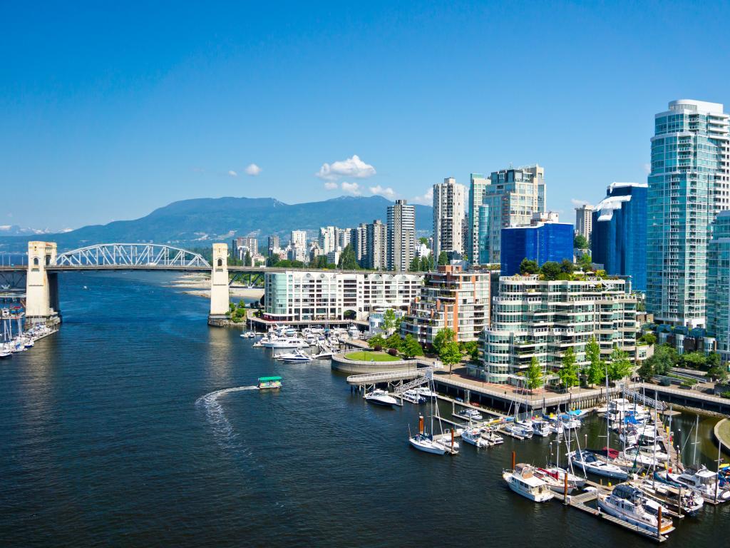 Airborne view of Vancouver, British Columbia, Canada