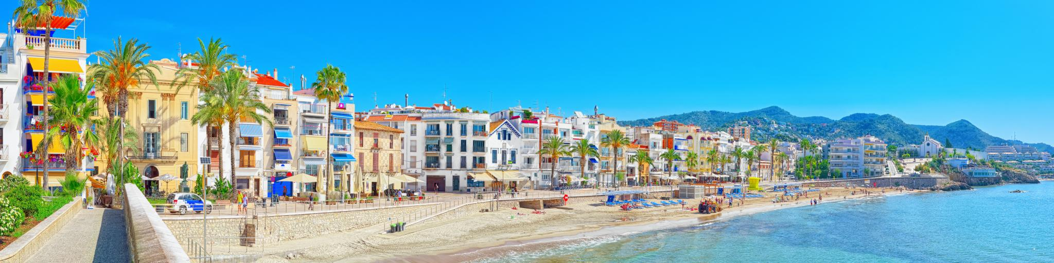 Sitges town and beach is a perfect day trip from Barcelona