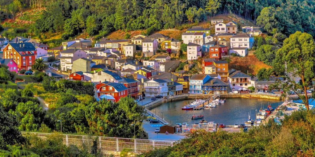 O Barqueiro fishing village is a perfect spot on a road trip through Galicia