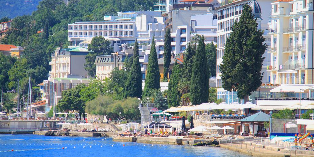 Buildings on the seafront in Opatija, Croatia