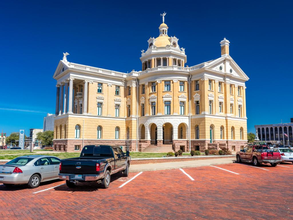 Marshall Texas Courthouse in Harrison County, Texas