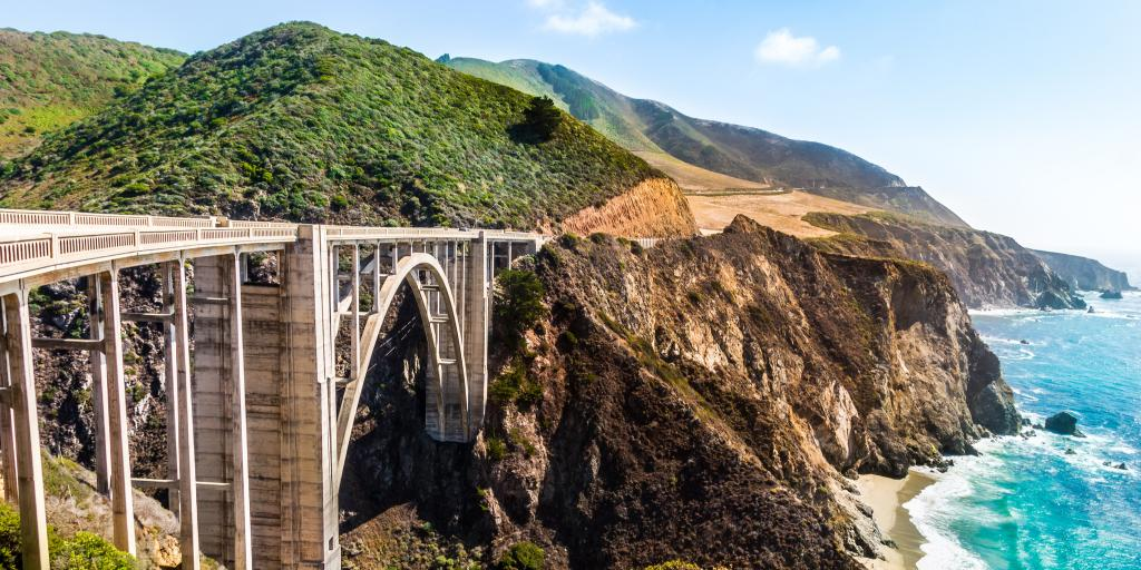 Bixby Creek Bridge on Highway 1 in California's Big Sur area