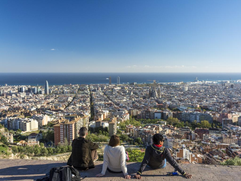 View of Barcelona from the Bunker of Carmel in Turo de la Rovira
