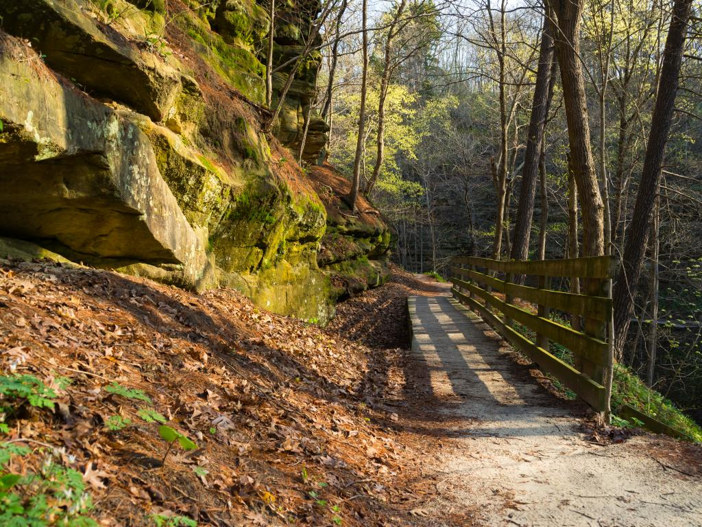 Walkway in Starved Rock State Park, Illinois