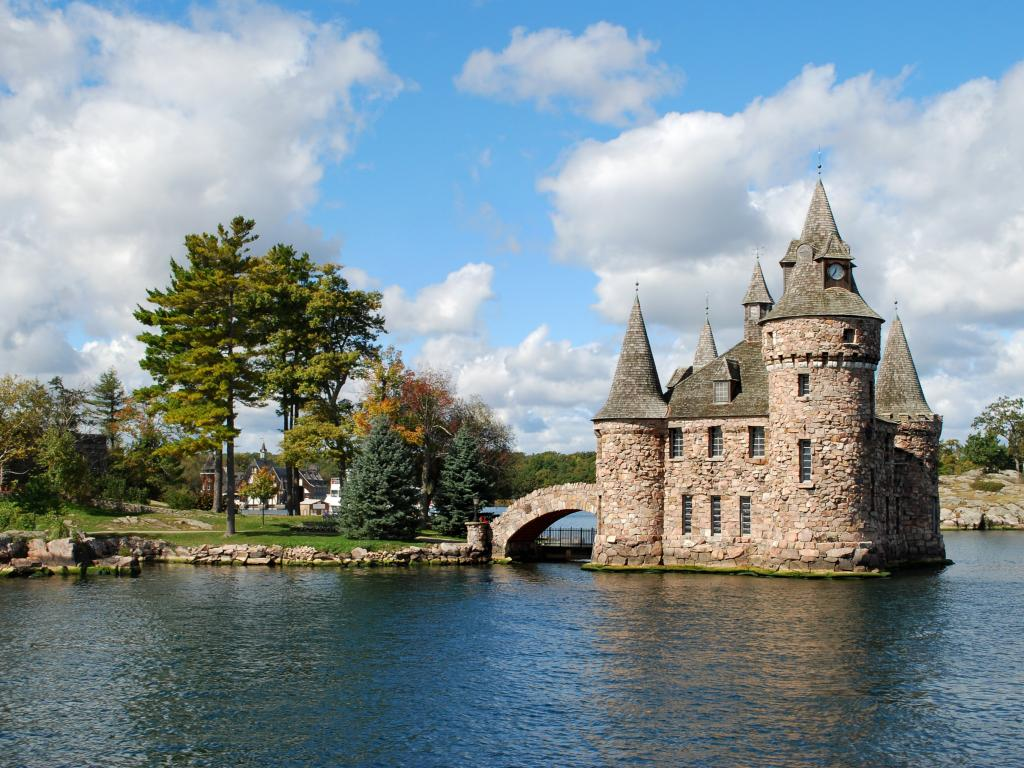 Boldt Castle on Heart Island in the St Lawrence River, USA