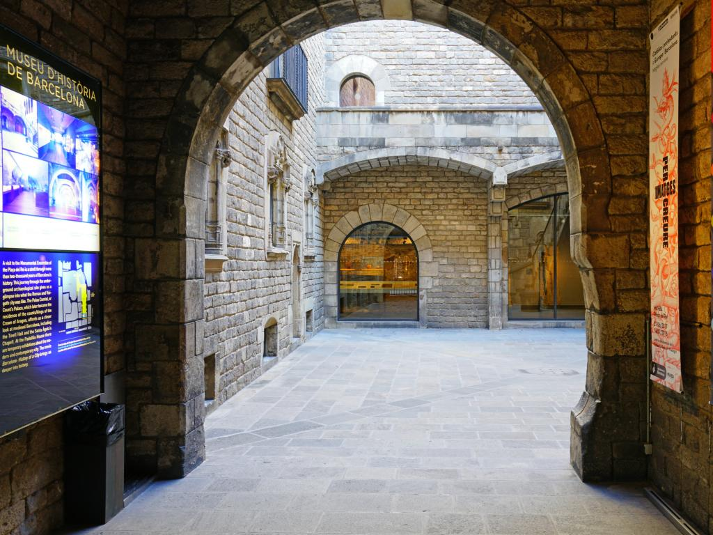 Entrance to the Barcelona City History Museum (MUHBA)
