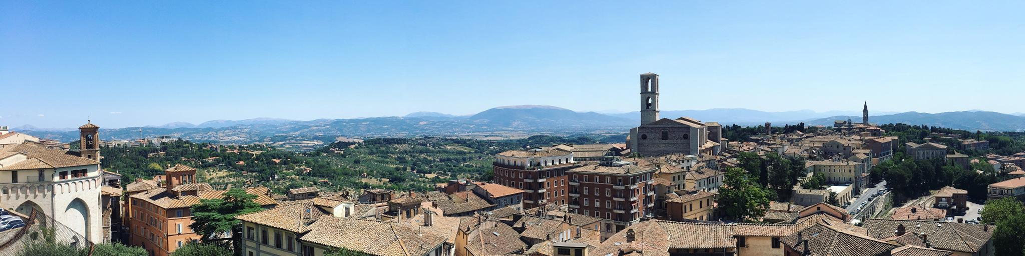 Hilltops in Perugia, Italy