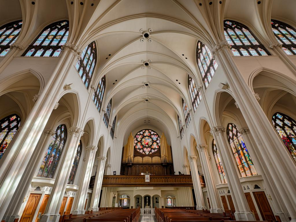 Inside the Cathedral of the Immaculate Conception in Denver, Colorado