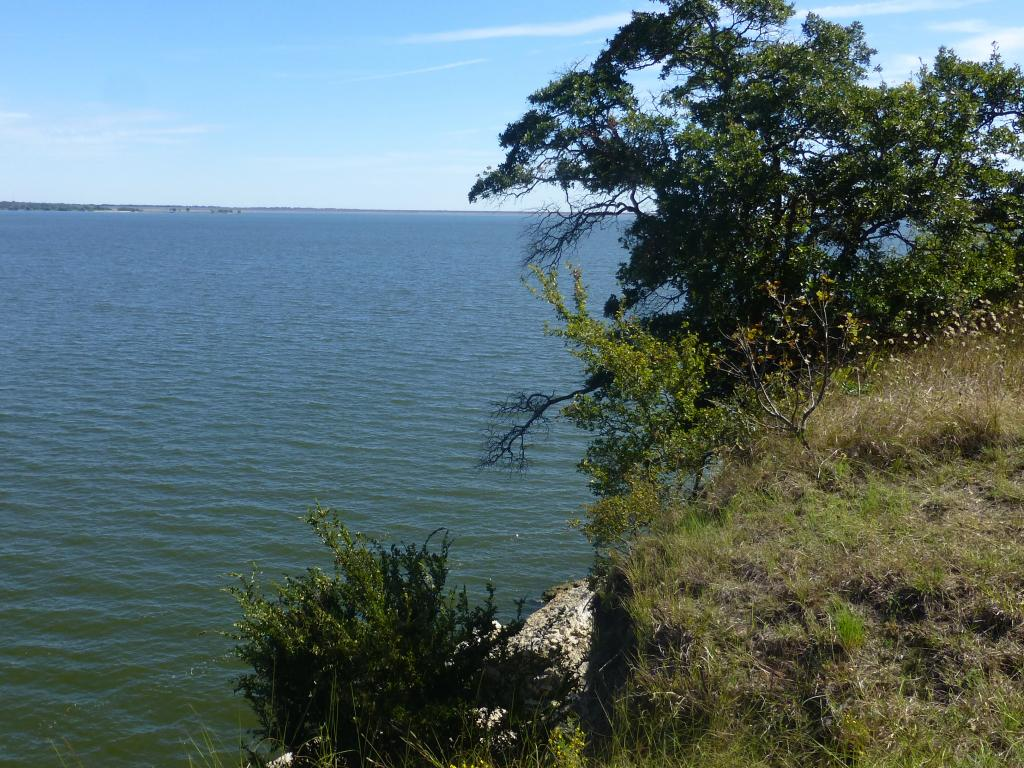 A view across Lake Texoma from the Eisenhower State Park, Texas.