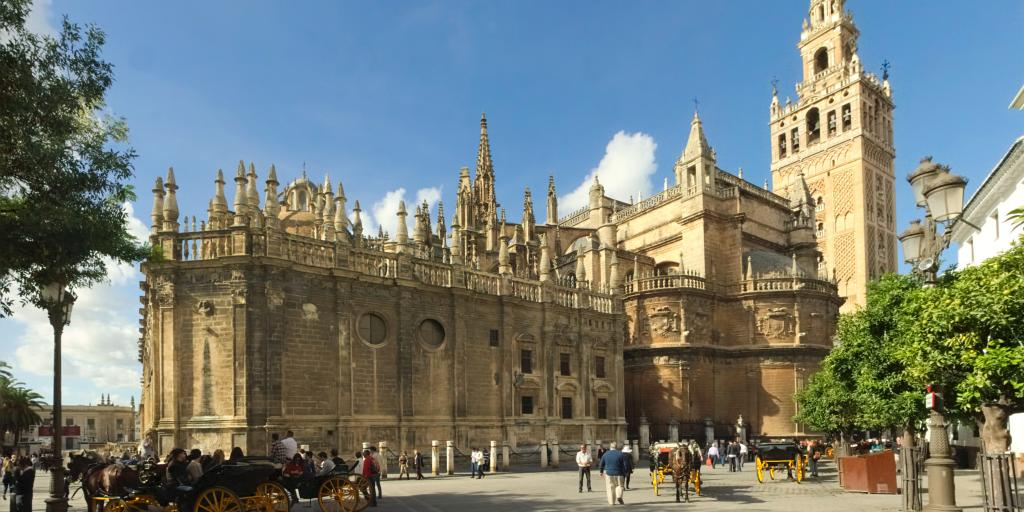 The beautiful Seville Cathedral, the third largest church in the world