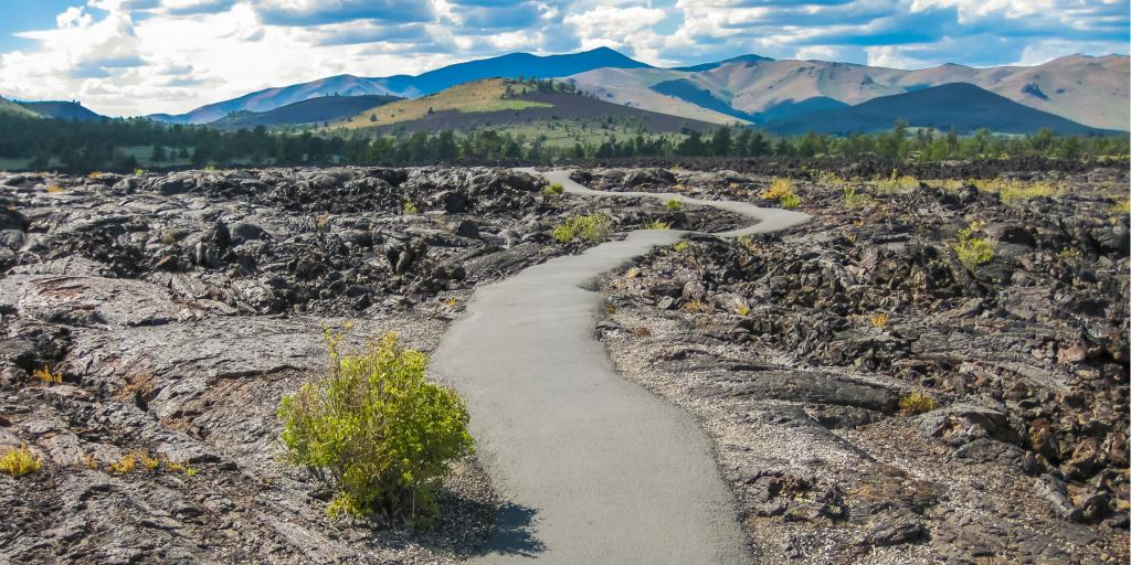 The otherworldly landscape at Craters of the Moon National Monument in Idaho, USA