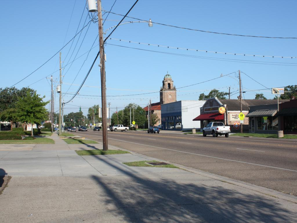The historic town of Ponchatoula in Louisiana