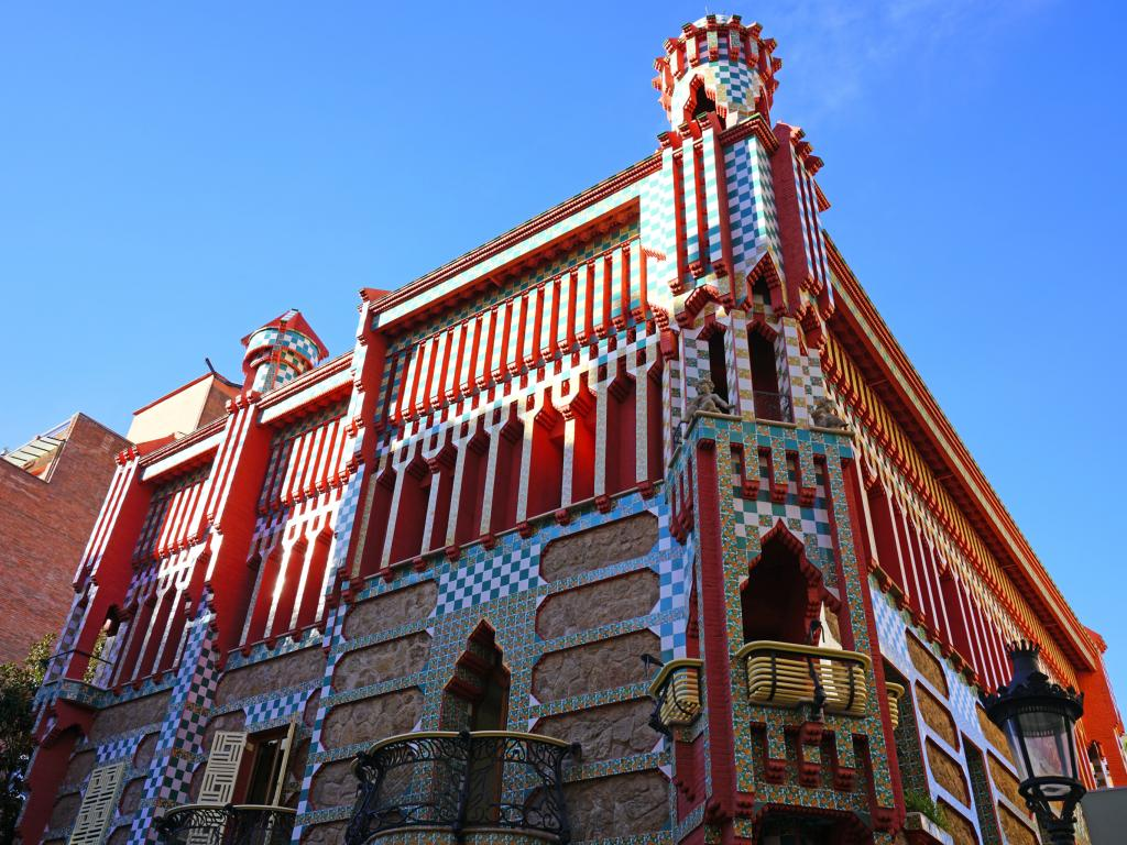 Casa Vicens museum in a Gaudi designed building in Barcelona