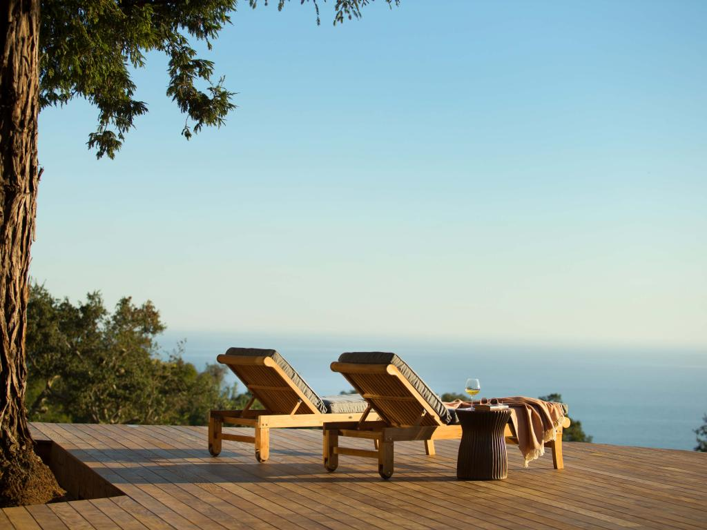 Stunning view down to the ocean from the Ventana Big Sur pool.